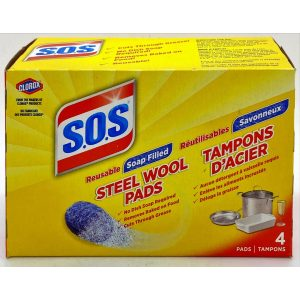 Clorox S.O.S Reusable Soap Filled Steel Wool Pads