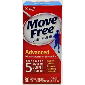 Schiff Move Free Joint Health Advanced With Glucosamine + Chondroitin 80 Tablets