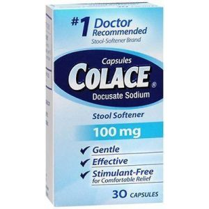 Colace Stool Softener 100mg Capsules