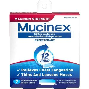 Mucinex 12 Hour Expectorant Max Strength Tablets